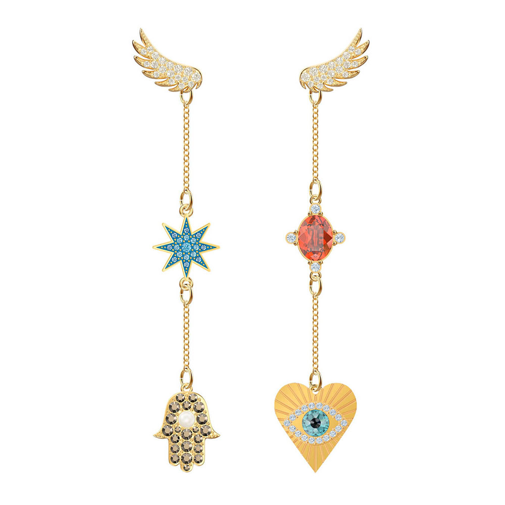 Earrings Fashion Crystal Happy-Goddess Shiny Unique Luxury MINA 5451268 Gift Pierced