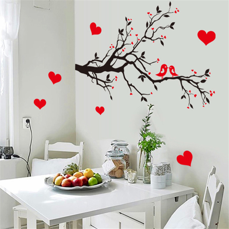 U0026 Birds On Branches Tree Wall Decals Animal Decorative Sticker Bedroom Wall  Arts Classical Black Removable Vinyl Bird Stickers In Wall Stickers From  Home ...