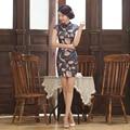 Hot Sale Women Cheongsams Eastern Oriental Dresses 100% Cotton Chinese Traditional Cheongsams Fashion Short Lady Qipao Dresses