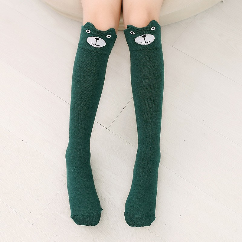 3-12T Children Kids Girls Knee High Socks Baby Girls Bow Sock Leg Warmer 9 Solid Color Toddler Baby Girl Clothes Accessories S