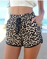 Women Summer 2016 Casual Leopard Printed Shorts Plus Size Women's Shorts Casual Short Pants 2colors