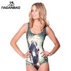 One Piece Swimsuit Beach Wear Dark Slate Gray Scoop Neck Printed Women Swimwear Bathing Suit Sexy Swim Suit Legolas CYQ1181
