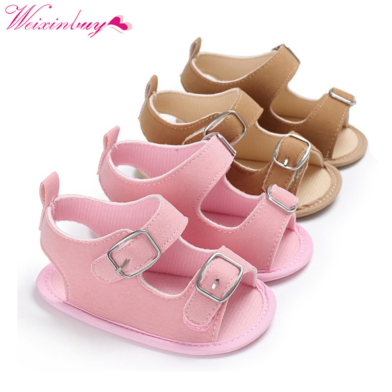 Baby Shoes Newborn Baby Girl Sandals Classic Canvas Comfort Cotton Baby Boy Sandals Fashion Beach Baby Sandals