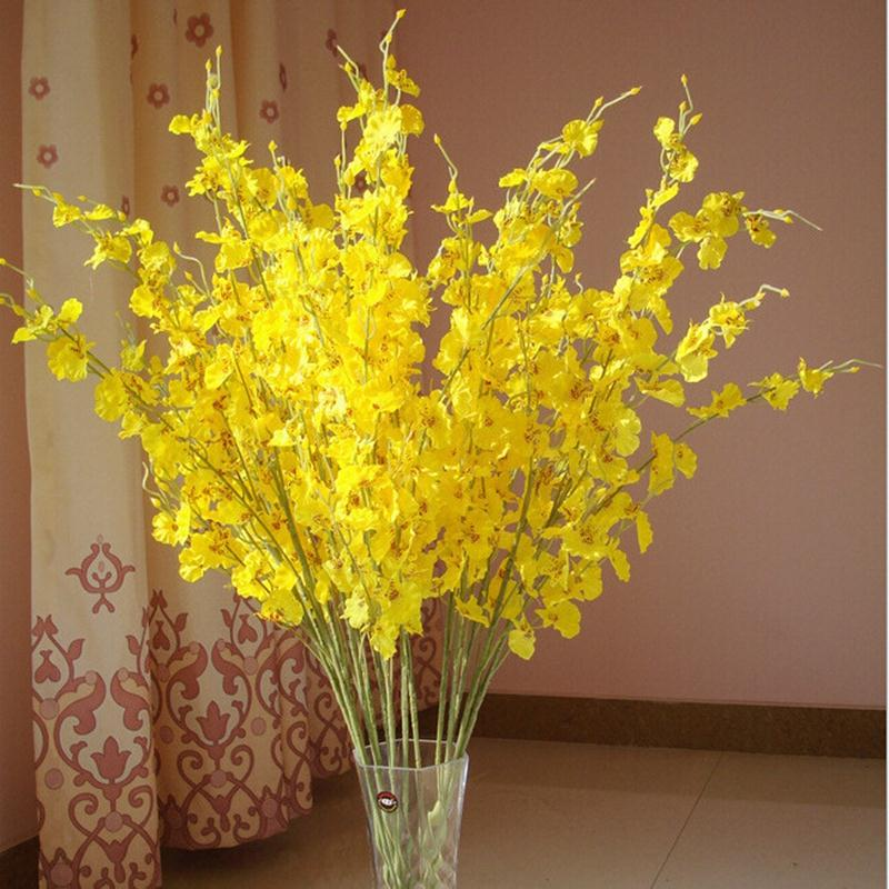 Cute Artificial Miraflor Flower Green Plant Silk 5 Branch Bouquet Without Vase Mini