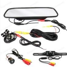 5 дюймов ЖК-дисплей TFT 800*480 дисплей автомобиля зеркало Мониторы с заднего вида Парковка Реверсивный Камера 2 видео Вход