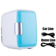 4 л двойное использование домашний Автомобиль 12 В 220 В использовать холодильники Ультра тихий низкий уровень шума автомобиля мини-Холодильники Морозильник охлаждение нагревательный ящик холодильник