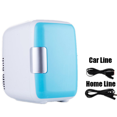 4L Dual-Use Home Car 12V 220V Use Refrigerators Ultra Quiet Low Noise Car Mini Refrigerators Freezer Cooling Heating Box Fridge
