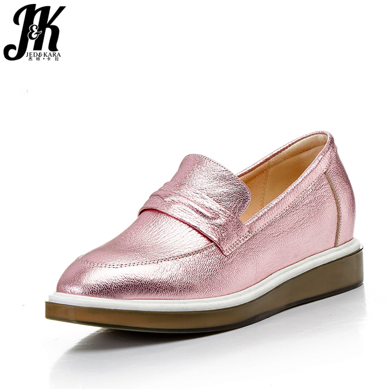 ФОТО 2017 New Arrival Women's Vulcanize Shoes Genuine Leather Brand Shoes Woman Flat Sole Fashion Solid Casual Spring Shoes Woman