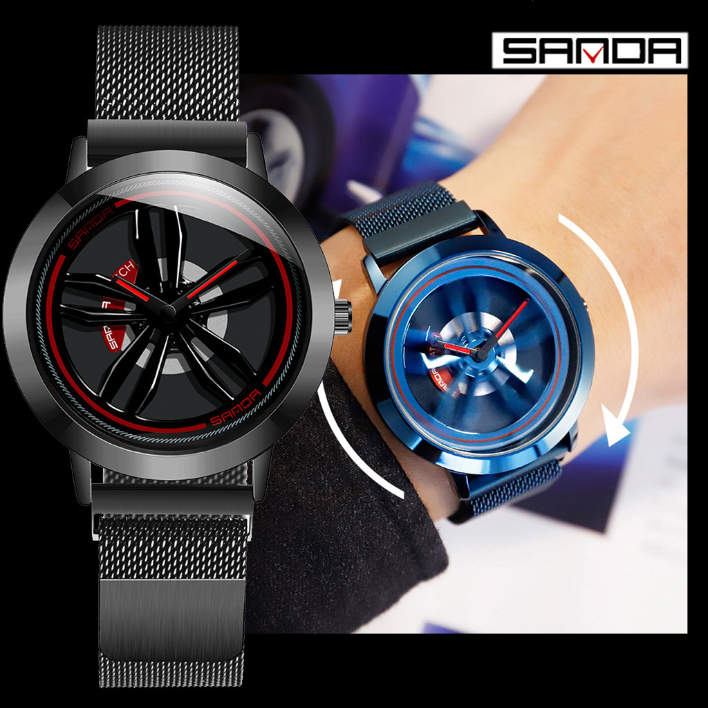 Watch Men Magnetic-Strap Rotation Saati New-Style Fashion Quartz 360-Degree Erkek Dial-Innovate