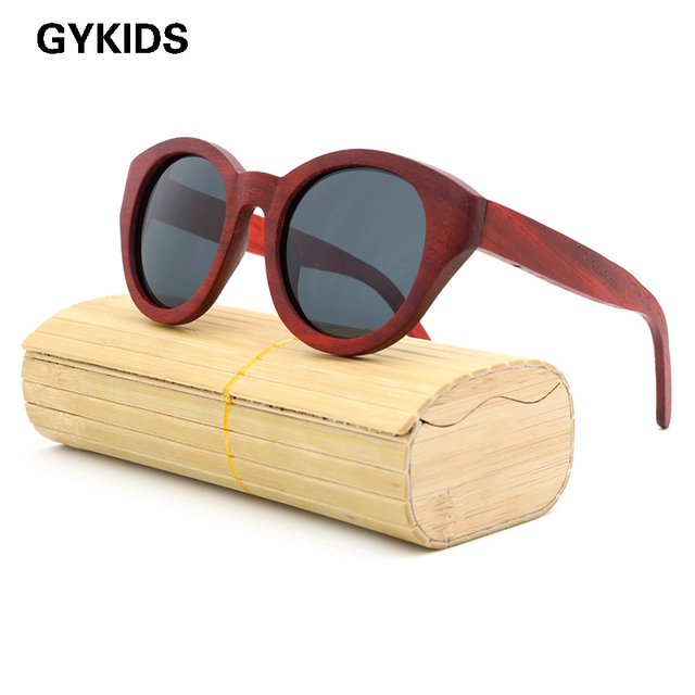 New 2016 Fashion 100% Handmade Wood Wooden Sunglasses Cute Design for Men Women gafas de sol steampunk Cool Sun Glasses