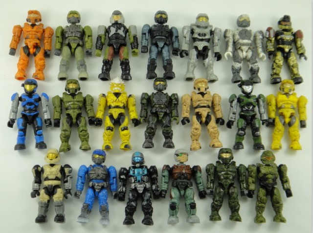 10PCS random Mega Bloks Halo quality Action Figure game's
