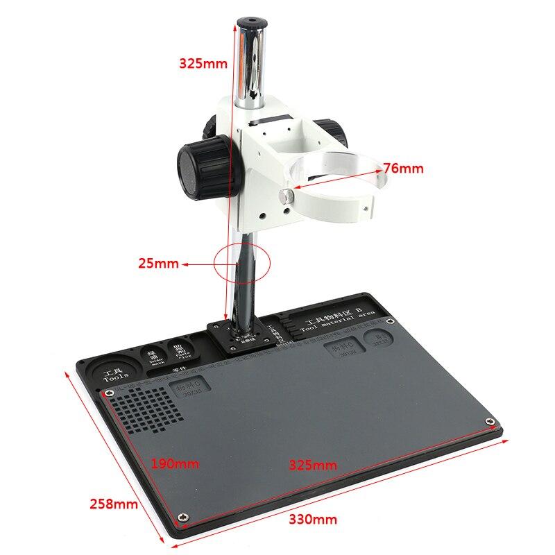 Multifunction Aluminum Alloy BGA Phone Soldering Pad PCB Repair Stereo Microscope Adjustable Boom Table Working Stand
