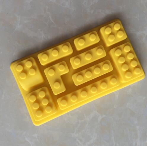 New Lego Toy Brick Shape Silicone Fandont Chocolate Mold Ice Cube Mould Sweet Candy Jelly Cake