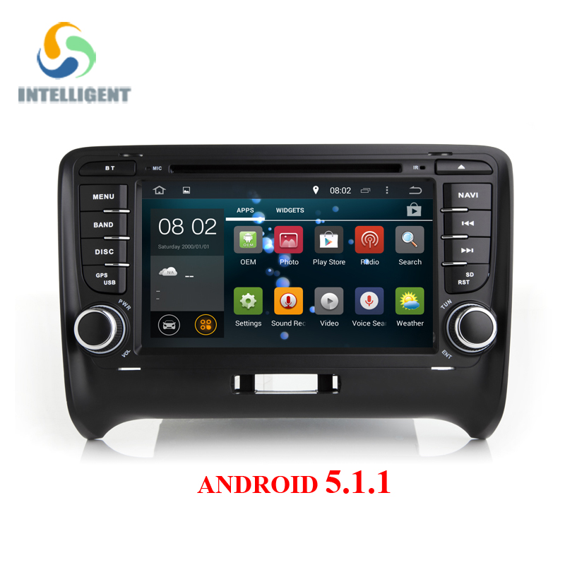 Android 5.1.1 Quad core RK3188 HD 1024*600 Touch screen 2 DIN Car DVD GPS Radio stereo For AUDI TT  wifi 3G GPS USB SWC AUDIO BT