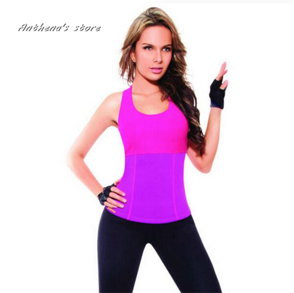 2016 Hot Shapers Body Control Shapers Tank Top Super Stretch Neoprene Slimming Vests Training Corset Vests Waistcoats Gym Sports strapless lace up slimming corset top