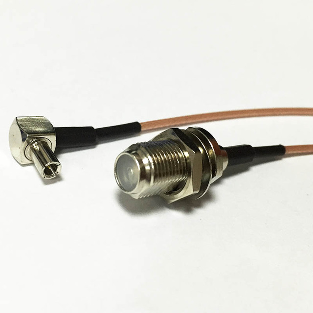 New Wireless Modem Wire F Female Jack Switch TS9 Right Angle RG178 ...