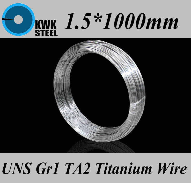 1.5*1000mm Titanium Wire UNS Gr1 TA2 Pure Titanium Ti Wire Industry Or DIY Material Free Shipping