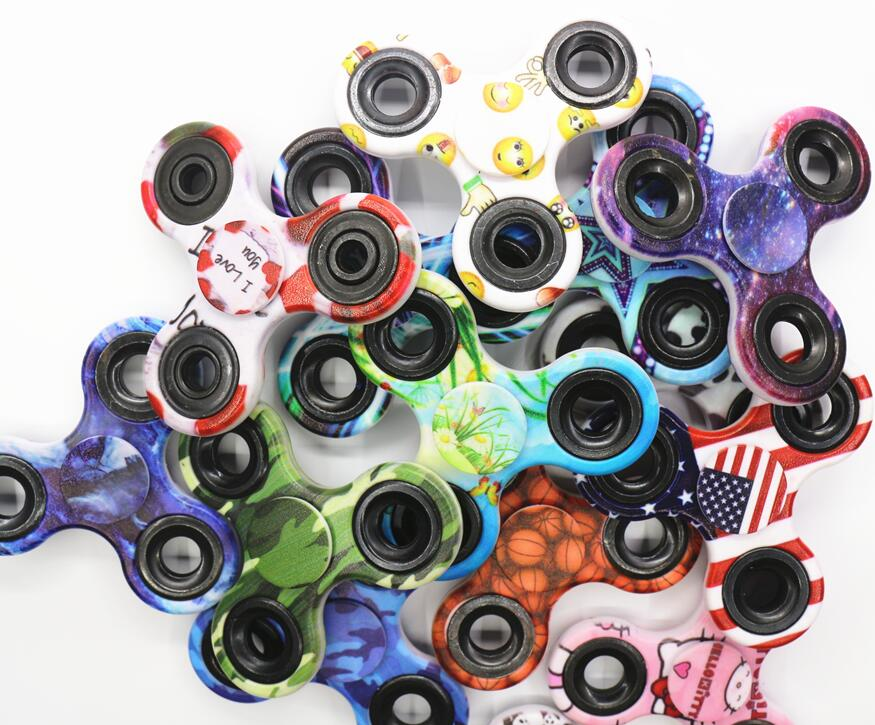 TUMI Camouflage Hand Spinner Cartoon Finger EDC Toy Time