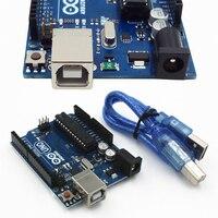 One Set UNO R3 MEGA328P ATMEGA16U2 Development Board For Arduino USB Cable SGHS Compatible