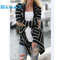 Shocking Show Pretty Fashion Women Casual Striped Cardigans Patchwork Outwear