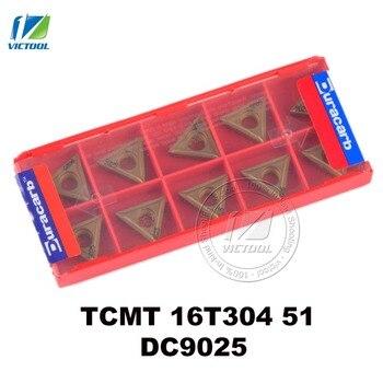 Duracarb TCMT16T304-51 DC9025 для отделки P15 ~ P35 стали карбида вольфрама поворачивая вставка CNC инструмент TCMT 16T304