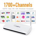 Android IPTV Set Top Box Wifi 1G/8G with 1700 Italy Portugal French Europe Arabic Sky IPTV Channels Strong CPU HD Media Player