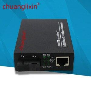 Image 2 - イーサネットメディアコンバータ 100 メートル 1 ポート + 1 繊維ポート光 SC 1310/1550nm AB メディアコンバータ 1 ペア