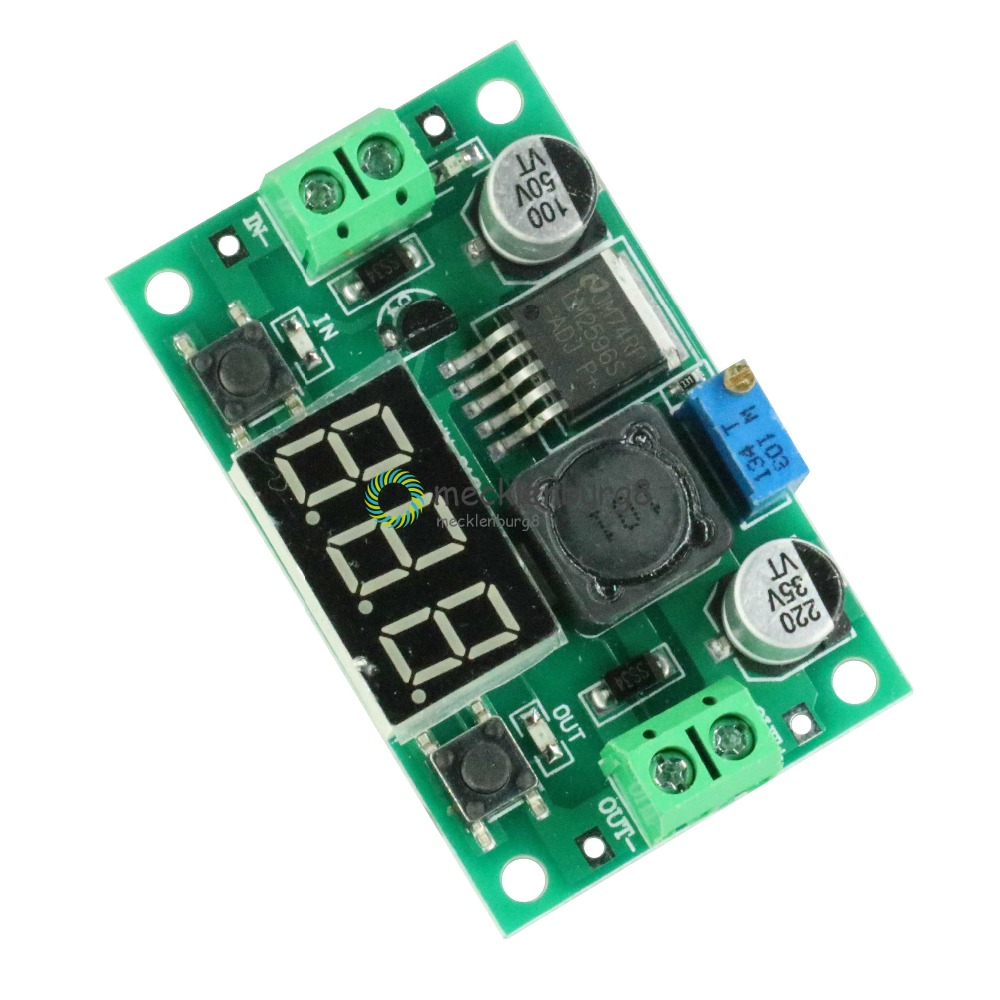 LM2596S DC-DC LM2596 Voltage Regulator + Led Voltmeter Buck Syhodz Converter Module DC 4.0-40 To 1.3-37 V
