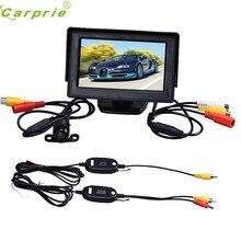 Fiable 4.3 Pulgadas TFT LCD Monitor + Del Revés Del Coche Del Rearview Cámara de Copia de seguridad Aparcamiento Kits Sin Hilos Ma25 dropshipping