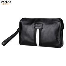Викуньи поло Роскошные для мужчин's сумки известных брендов клатч кошелек большой ёмкость мужчин сумки черные кожаные клатчи сумк