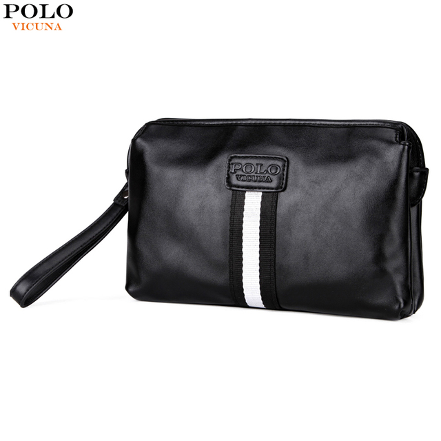Vicuna Polo Luxury Men S Handbags Famous Brands Clutch Wallet Large Capacity Handbag Black Leather Clutches