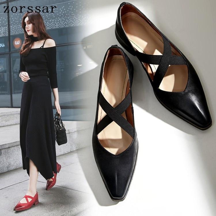 Mocassins d'été femmes mocassins chaussures décontractées en cuir véritable bout pointu dames chaussures plates femmes chaussures plates grande taille 33-41