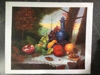Grau superior Pintados À Mão Pintura A Óleo sobre Tela Art Fruit Cozinha Vinho Fotos Quadro Lareira Clássica Européia Ainda Vivem