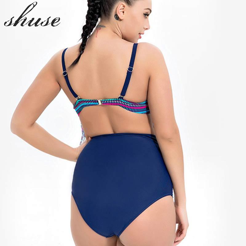 SHUSE Plus Size Bikini Swimsuit Әйелдер Гейті Талия - Спорттық киім мен керек-жарақтар - фото 3