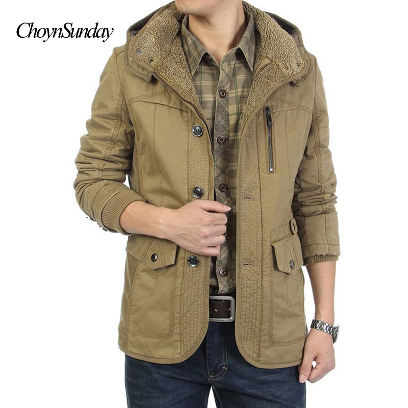 2018 New Casual Hooded Parkas Hombre Invierno Thick Warm - S Oliver Jassen Heren