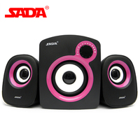 Originale SADA d-200b PC Computer Portatile Del Telefono Mobile Mini Altoparlante Portatile Stereo Surround Desktop 3.5mm Jack Audio USB Powered Amplificatore