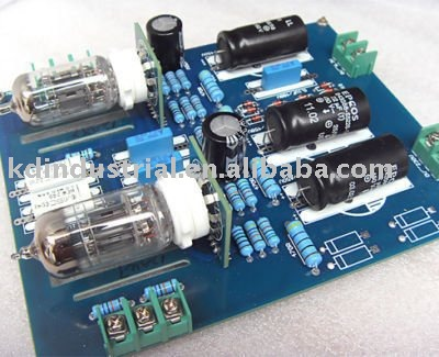 Free shipping 1pc/lot HIFI Tube Preamplifier 12AX7+12AU7 PRE AMP KIT Board,A2