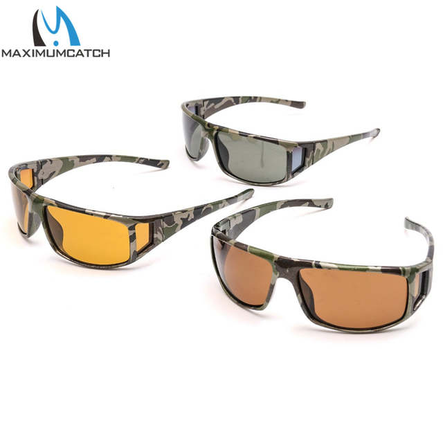 2fe7d60fdb2d placeholder Maximumcatch Camouflage Frame Fly Fishing Polarized Sunglasses  Gray Yellow Brown Color Fishing Sunglasses