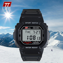 TTLIFE Men Digital Watch Outdoor Sports Waterproof Electronic LED Clock Business Japanese Movement Back Light Wristwatch TS13