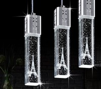 1/3/4/6 heads lamps glass pendant lights 3 head contracted Led crystal lamp tower droplight Tower crystal pendant lamp FG719