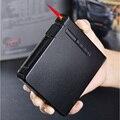 (20 сигарет) Матовый Автоматический чехол для сигарет модный беспламенный ветрозащитный надувной газовый Зажигалка коробка для сигарет муж...