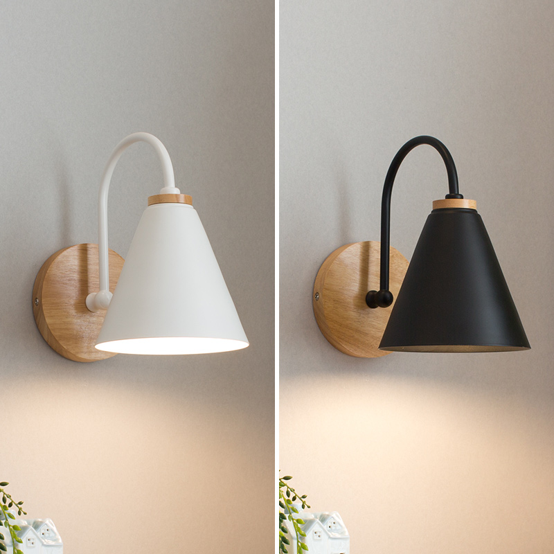 Us 40 21 22 Off Wooden Wall Lights Bedside Lamp Bedroom Light Sconce For Kitchen Restaurant Modern Nordic Macaroon Sconces In