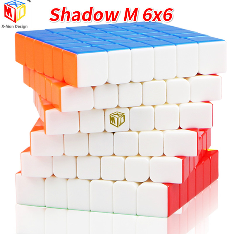 Qiyi X-MAN ombre M 6x6x6Layer magnétique SpeedCube Cube magique XMD ombre Mofangge Cube magique Puzzle jouets pour enfants