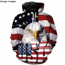 Plstar Cosmos con la bandera americana Eagles retro clásico 3D hoodies  imprimir hombres mujeres streetwear Sudadera con capucha . 4548df11be6