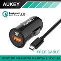 Aukey Быстрая Зарядка 3.0 Мини Авто USB Автомобильное Зарядное Устройство QC2.0-Совместимость автомобильное зарядное устройство Для iPhone 7 Plus Samgsung Galaxy S6 Edge Зарядное Устройство