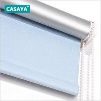 Casaya дневной свет и плотными жалюзи бурения Системы одноцветное Цвет 100% Blackout Шторы фабрики Китая нестандартного размера