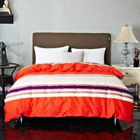 Fashion Home Life Comfortable Natural Color Stripes Printing Pattern Duvet Cover Cotton Bedding Breathable Soft Home