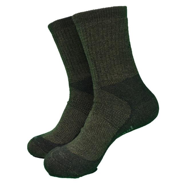 Army Green Color Whole Terry Thick 60% Merino Wool Heavy Outdoor Hike Socks  Men s Socks Women s Socks ( 1 Pair) f4814647dcbf