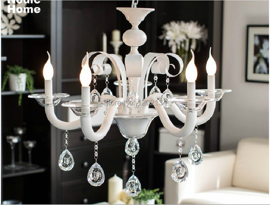Fashion Brief Northern Europe 5 Lamp Crystal Chandeliers