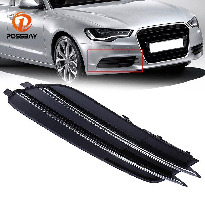 POSSBAY Front Lower Grille Fit For Audi A6 C7 Sedan/Avant
